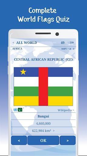 The Flags of the World u2013 Nations Geo Flags Quiz 5.1 screenshots 9