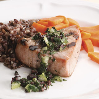Grilled Tuna with Olive Relish Recipe