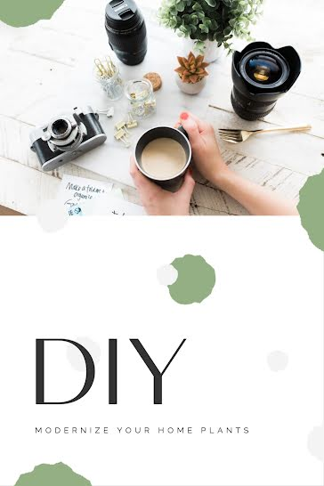 DIY Home Plants - Pinterest Pin Template
