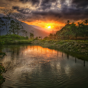 FRIDAY MORNING by Jerome Mojica - Instagram & Mobile Android ( sky, nature, waterscape, ifugao, sunrise, landscape, xiaomia1, pond, philippines )