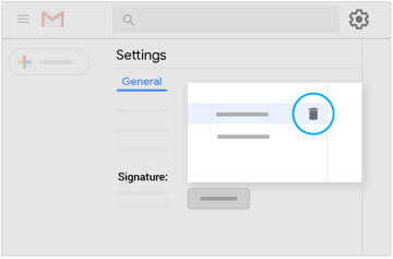 Delete saved signatures in Settings