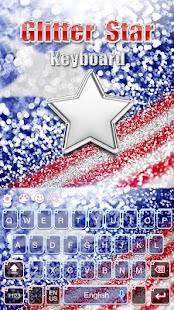 Glitter Star keyboard - náhled