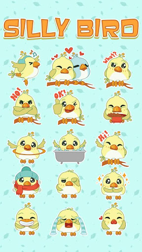GO Keyboard Sticker Silly Bird|玩個人化App免費|玩APPs
