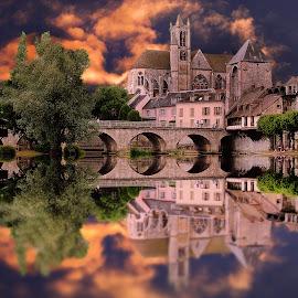 Le pont de la cathédrale by Gérard CHATENET - Digital Art Places (  )