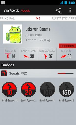 Runtastic Squats PRO Trainer para Android