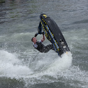 Thrills and skills by Judy Boyle - Transportation Other ( #moving water # jetski,  )