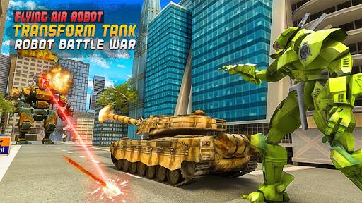 Flying Air Robot Transform Tank Robot Battle War Apk 1