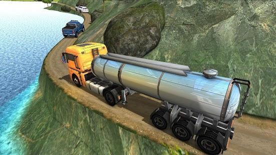 Mountain Oil Tanker Transport: Heavy Cargo Trailer - náhled