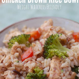 Skinny Hot + Cold Chicken Brown Rice Bowl.