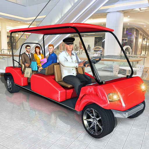 Shopping Mall Smart Taxi: Family Car Taxi Game