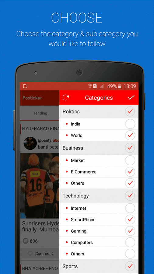 Posticker- Opinion Polling App- screenshot