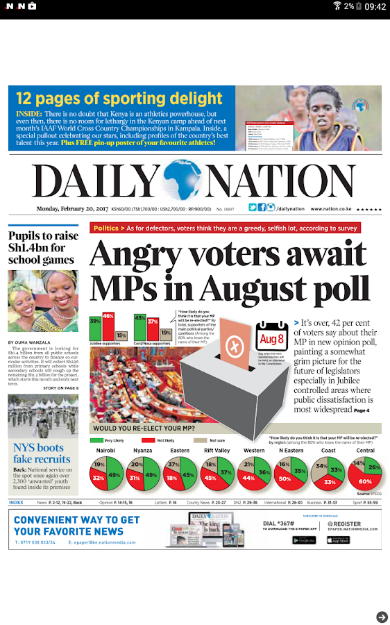 Daily Nation Epaper- screenshot