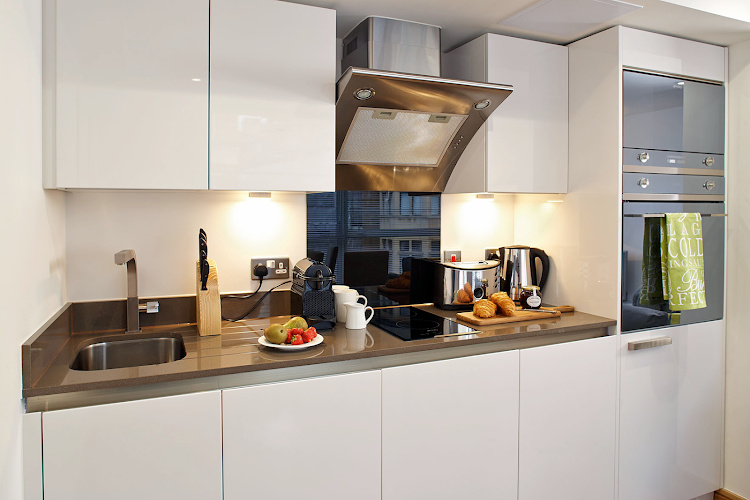 Kitchen at Marylebone apartment