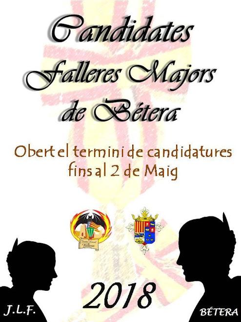 Candidatures a Fallera Majors de Bétera