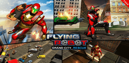 Robot di volo Grand City Rescu Giochi (APK) scaricare gratis per Android/PC/Windows screenshot