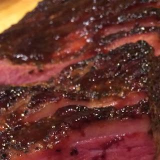 OVEN BBQ BEEF BRISKET.