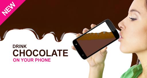 喝巧克力您的手机上