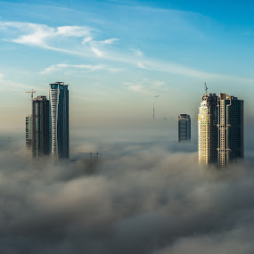 Between the fog by Ashraf Jandali - Landscapes Weather