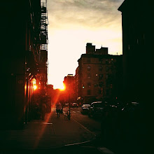 Photo: Manhattanhenge 2012 - Taken a few minutes ago!  I have taken formal photos of Manhattanhenge in previous years in midtown with the whole iconic backdrop of the Chrysler Building, one of which I posted yesterday (the others can be found by browsing through this album).  However, I stayed in my own neighborhood this time around. Kind of loving how fantastic the Manhattanhenge sunset looks on the Lower East Side. :)  Manhattanhenge is a semiannual occurrence in which the setting sun aligns with the east–west streets of the main street grid in the borough of Manhattan in New York City. The term is derived from Stonehenge, at which the sun aligns with the stones on the solstices. It was coined in 2002 by Neil deGrasse Tyson, an astrophysicist who is the director of the Hayden Planetarium at the American Museum of Natural History.    Taken with my iphone and posted to my instagram as well. I am @newyorklens on Instagram (view my feed here: http://goo.gl/8hbcE ). You can check out some of my Instagram photos on Flickr here: http://goo.gl/BxNpG . Additionally, you can view my phone photography for sale here: http://instacanv.as/newyorklens .    New York Photography: Manhattanhenge 2012. Lower East Side.    You can view this post on my site if you wish here:  http://nythroughthelens.com/post/24098242549/manhattanhenge-2012-may-30th-lower-east-side    Tags: #photography #manhattanhenge #nyc #newyorkcity #manhattan #newyorkcityphotography #lowereastside #sunset #city #urban #landscape
