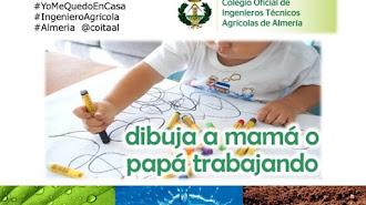 Cartel del Concurso Infantil Dibuja a mamá o papá trabajando del COITAAL.