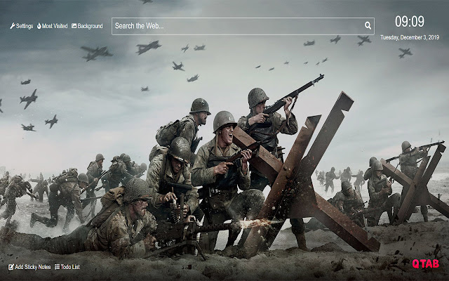 Call Of Duty Wwii Wallpaper For New Tab