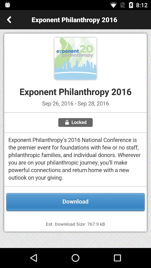 Exponent Philanthropy- screenshot