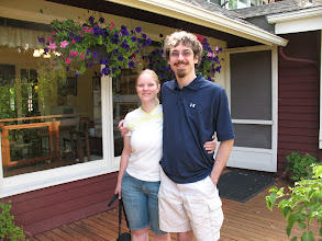 Photo: Day 6: Jamey and I on the Kangaroo House Bed and Breakfast deck.