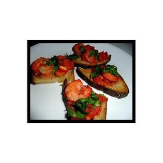 Tandoori Shrimp Bruschettas