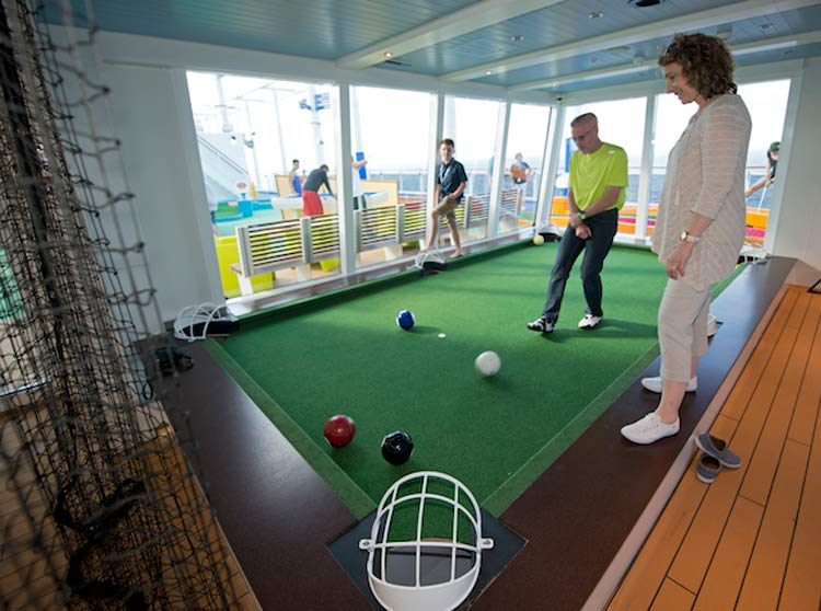 The Clubhouse aboard Carnival Vista.