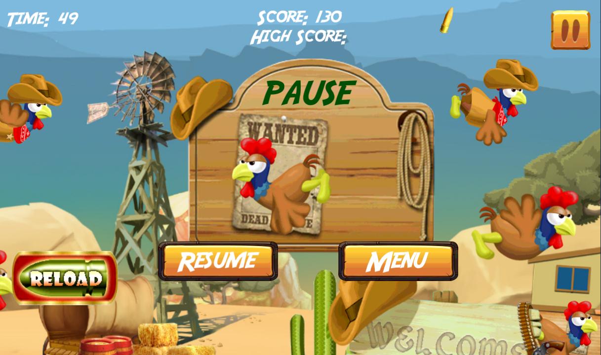 Fruit shoot game - Chicken Hunter Shoot Screenshot
