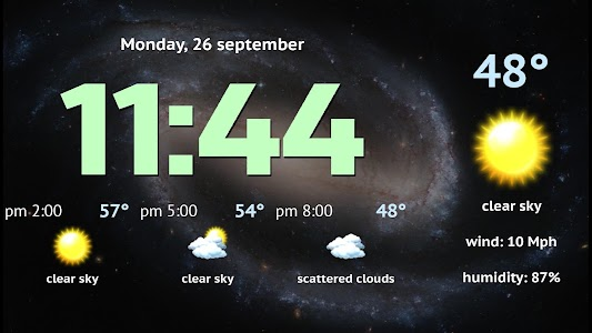 Weather Night Dock Free screenshot 8
