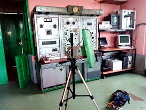 Photo: Antena tipo panel preparada para dar servicio de red internet a la organización del Slalom