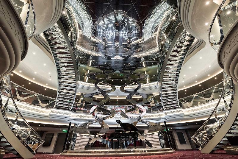 The eye-popping Infinity Atrium aboard MSC Meraviglia.