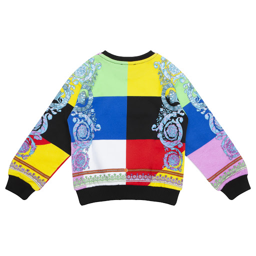 Thumbnail images of Young Versace Girls Patchwork Jumper
