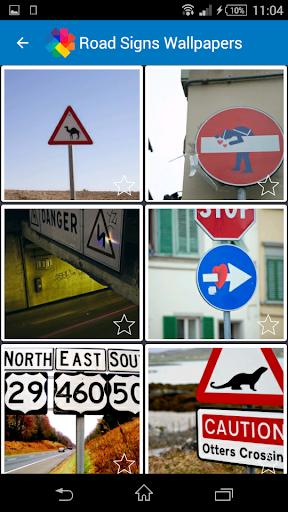 道路標識の壁紙