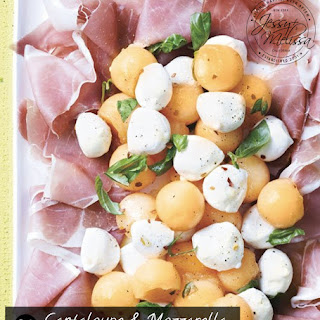 Cantaloupe and Mozzarella with Prosciutto and Basil Recipe