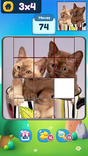 Slide ® - SlidePuzzle about dog, cat, cactus... screenshot 3