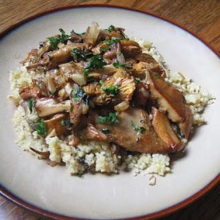 20 minute Wild Mushroom couscous