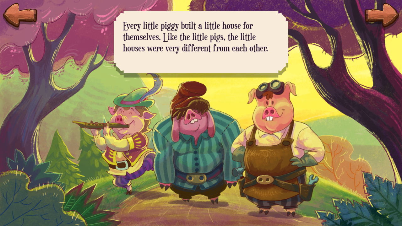 The Three Little Pigs and The Big Bad Wolf Story- screenshot