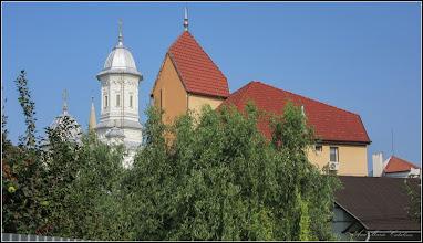 Photo: Turda, Vedere de pe Str: Aurel Vlaicu, Str. Andrei Saguna, Nr.2 - Catedrala Ortodoxa s Biserica Baptista de pe Str. Gelu, Nr.5 - 2018.09.01