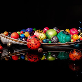 Reflection of spheres by Ruth Sano - Artistic Objects Other Objects ( glass, reflection, chihuly, seattle, colorful,  )