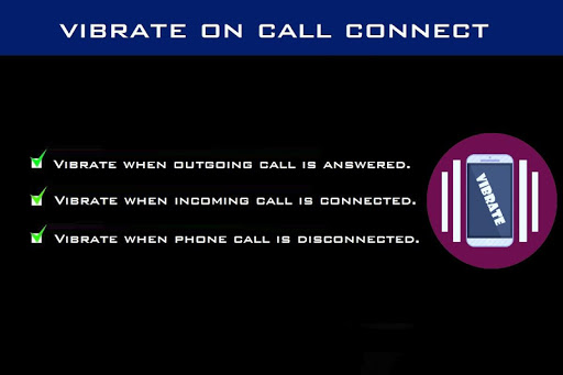 Vibrate on call connect 2.0