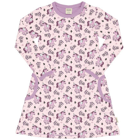 Maxomorra Dress LS Unicorn Jungle
