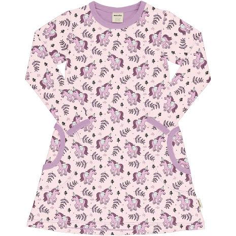 Maxomorra Dress LS Unicorn Jungle