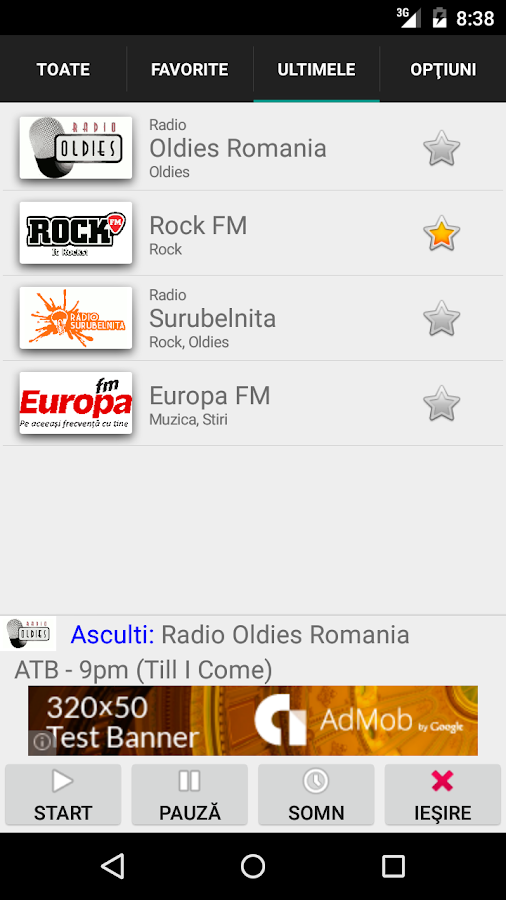 Radiouri din Romania online- screenshot