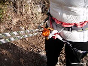 Photo: Uso del descensor tipo cesta
