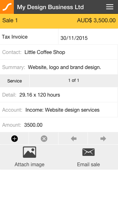 Saasu Online Accounting- screenshot