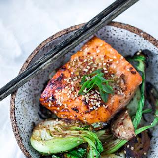 Sheet-Pan Teriyaki Salmon and Baby Bok Choy.