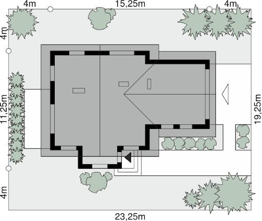 Dom przy Cyprysowej 41 - Sytuacja