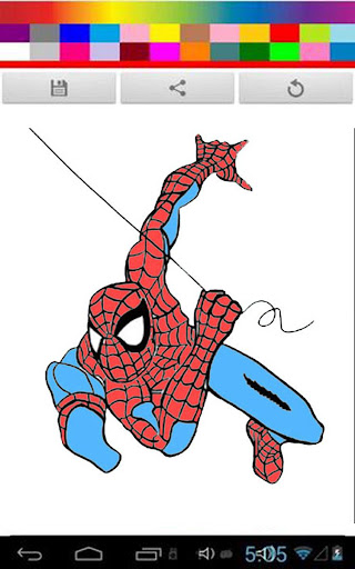 Spidy Coloring Kids Game